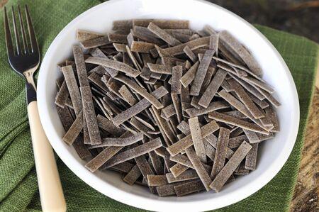 pizzoccheri: Home-made buckwheat pasta
