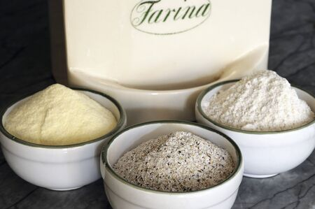kasha: An arrangement of various types of flour