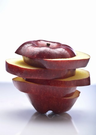 aaa: Sliced and Stacked Red Delicious Apple