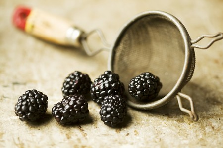 aaa: Blackberries Spilling from a Colander