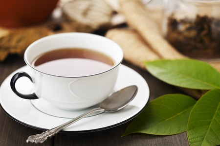 teas: A cup of walnut leaf tea LANG_EVOIMAGES