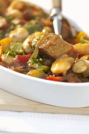rumanian: Pork goulash with white beans (Romania)