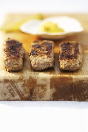 rumanian: Sausages with mustard (Romania)