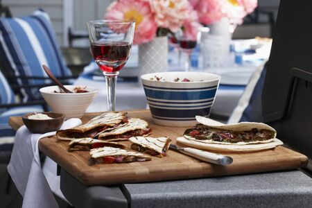 southern european: Grilled quesadillas from Italy