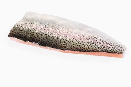 salmo trutta: Salmon trout fillet with skin