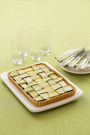 courgette: Courgette tart
