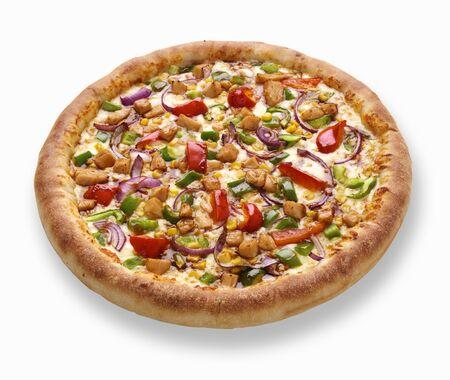 entire: Teriyaki chicken pizza