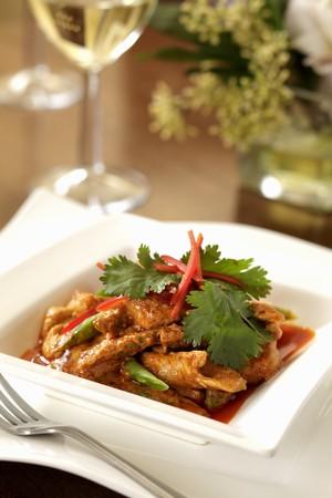 chicken curry: H�hnchencurry mit gr�nen Bohnen