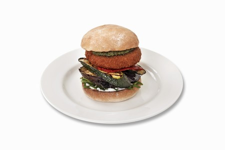 cocozelle: Goats cheese burger with grilled courgette, aubergines and pesto LANG_EVOIMAGES