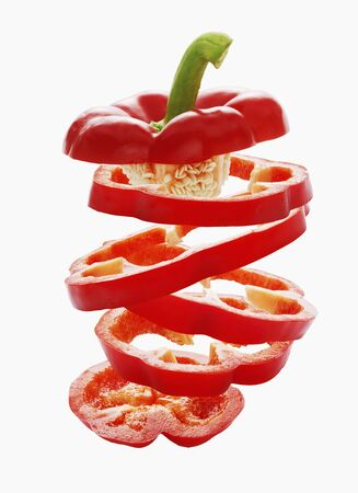 aaa: Sliced red peppers