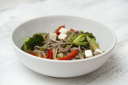 soba noodles: Soba noodles with vegetables