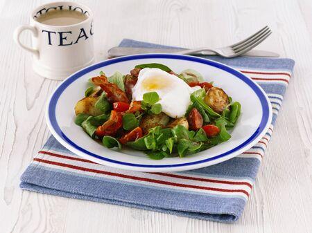 english breakfast: An English breakfast with tea