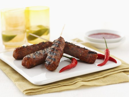 kebob: Minced meat kebabs with chilli peppers