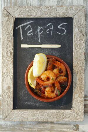 southern european: Gambas al ajillo (garlic prawns, Spain)