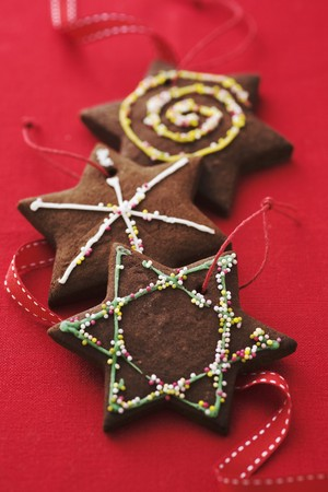 chocolate christmas: Galletas de chocolate de Navidad como decoraci�n LANG_EVOIMAGES