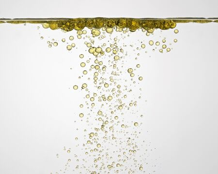 oil drops: Oil drops in water, close-up