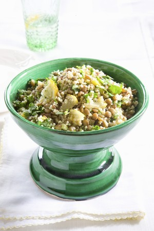 chalices: Lentil salad with lemons