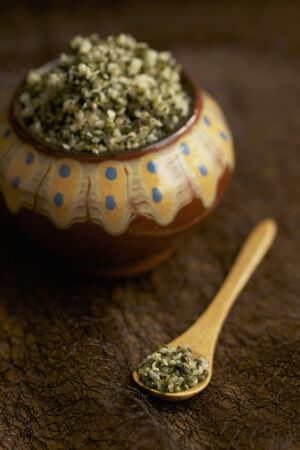 shelled: Shelled hemp seeds