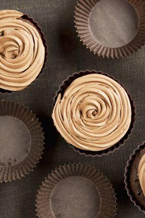 aaa: Chocolate cupcakes with coffee icing