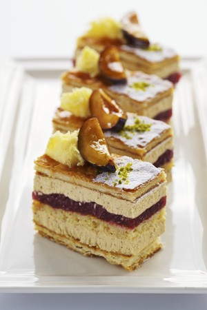 danish puff pastry: Chestnut and plum slices LANG_EVOIMAGES