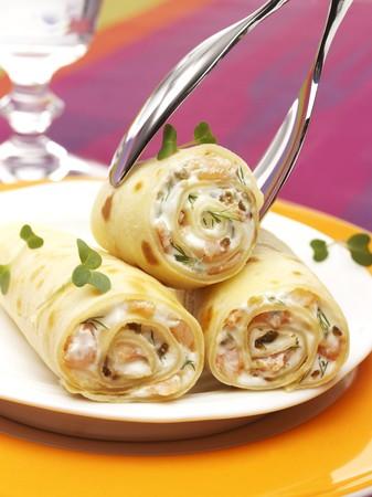 pastes: Shrimp crepes