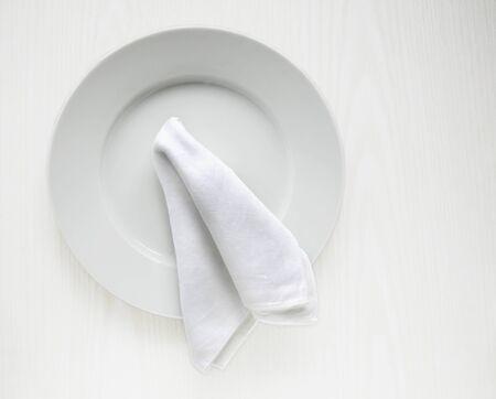 serviette: Plate and serviette
