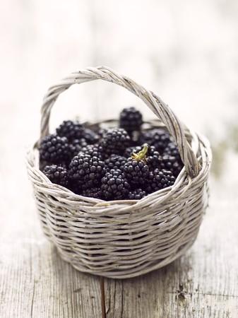brambleberries: Blackberries in basket