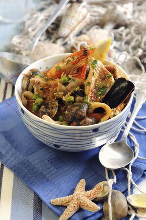 southern european: Cacciuccio (Italian fish soup)