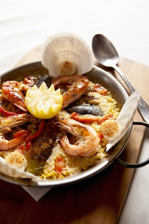 coquille: Paella in the pan