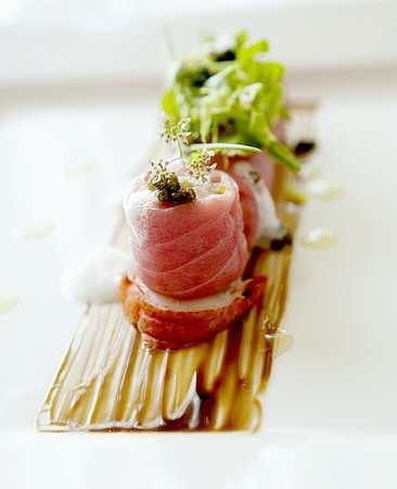 tunafish: vanilla lobster with caviar