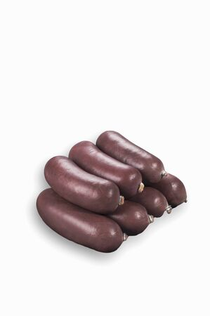 scalded sausage: Several black pudding sausages LANG_EVOIMAGES