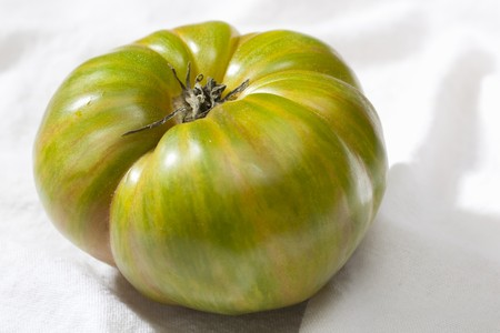 heirloom: Green Streaked Heirloom Tomato
