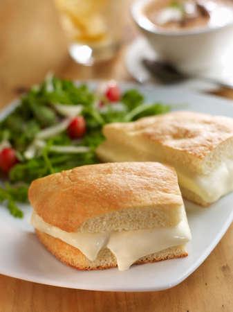 stracchino: Focaccia and Crescenza Cheese Sandwich
