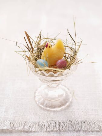 jellybean: An Easter nest in an egg cup with sweets