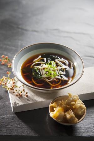 noodle soup: Noodle soup with tofu tempura (Japan)