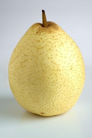 asian pear: An Asian pear against a white background