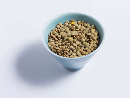brownness: Brown lentils in a dish
