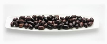 kalamata: Pitted Kalamata Olives on a Dish