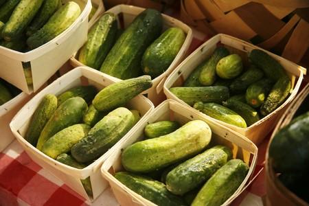 pickling: Pickling Cukes at a Farmers Market