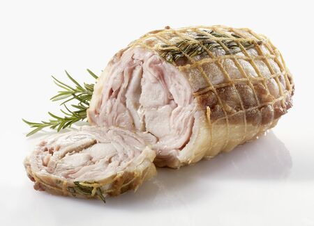 pine kernels: Rabbit roulade with rosemary