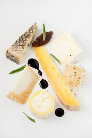 cheese plate: A cheese plate with fig chutney, honeycomb and balsamic vinegar