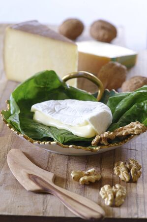 anti ageing: Soft cheese, hard cheese and walnuts