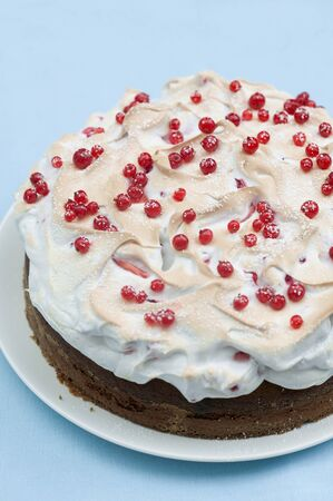 redcurrant: Redcurrant cake with a meringue top