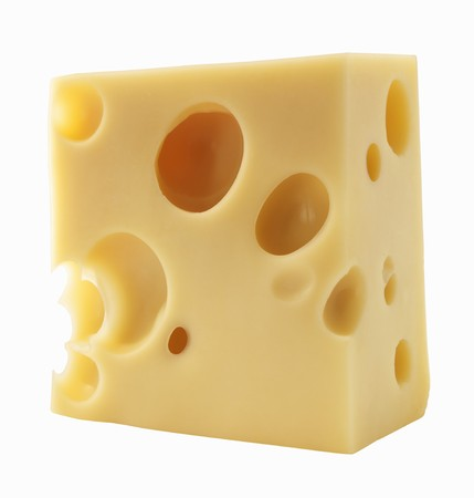 emmental: A piece of Emmental cheese