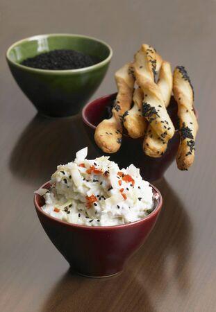 breadsticks: Dip Col puntiaguda con palitos de pan de alcaravea LANG_EVOIMAGES
