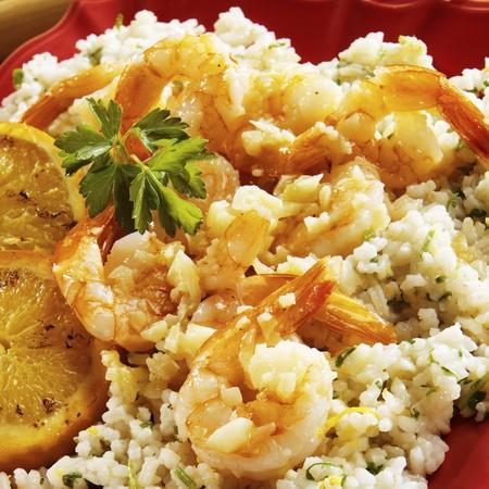 petroselinum sativum: Garlic Sauteed Shrimp on Orange Infused Rice
