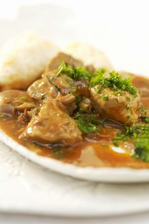 rumanian: Chicken paprikash with dumplings