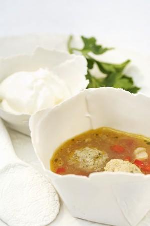 rumania: Soup with meat dumplings (Romania)