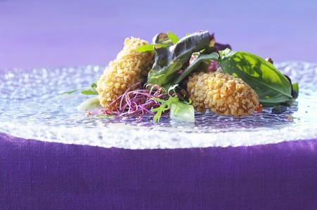 zander: Zander dumplings with colourful salad