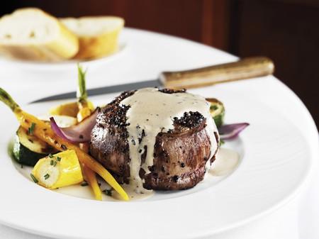 au: Steak Au Poivre; Filet Mignon with Black Peppercorn Sauce